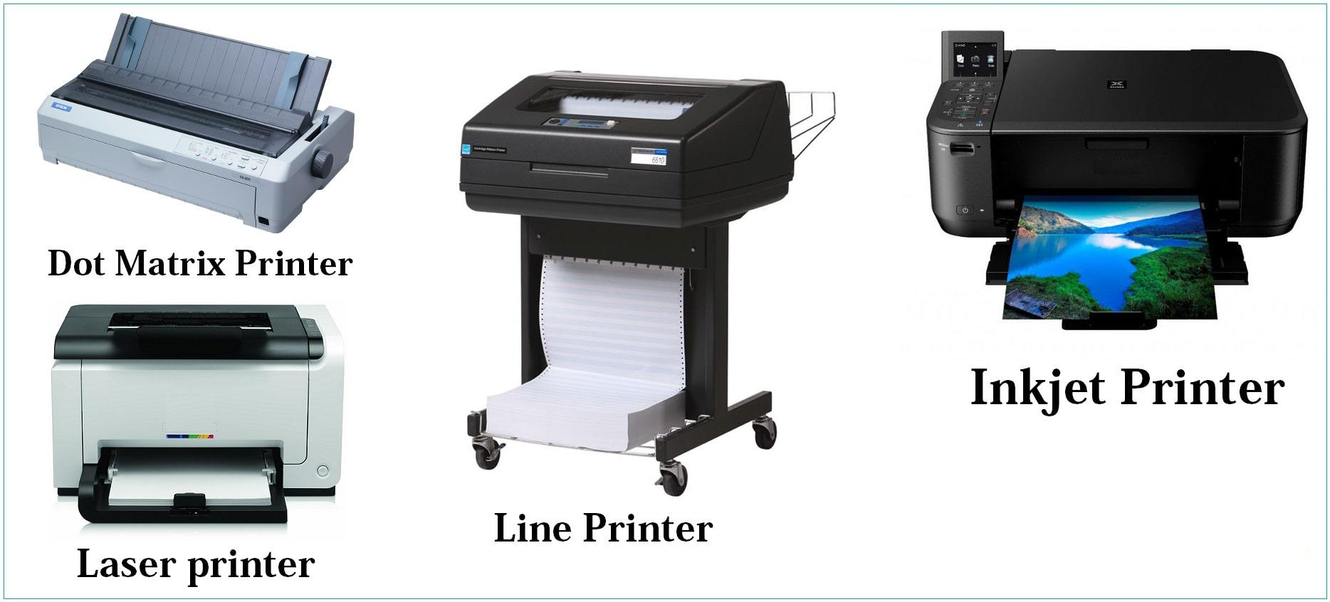 انواع پرینتر (چاپگر) و تعریف آنها بیاتوتخفیف