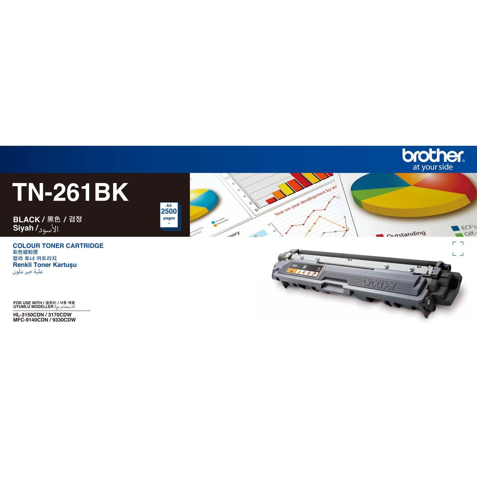 """کارتریج تونر مشکی TN-261BK برادر از تونرهای لیزری شرکت """" Brother """" میباشد. هر کارتریج دارای قطعات ، درام کارتریج ،چیپست کارتریج ، مگنت و فوم کارتریج است ."""