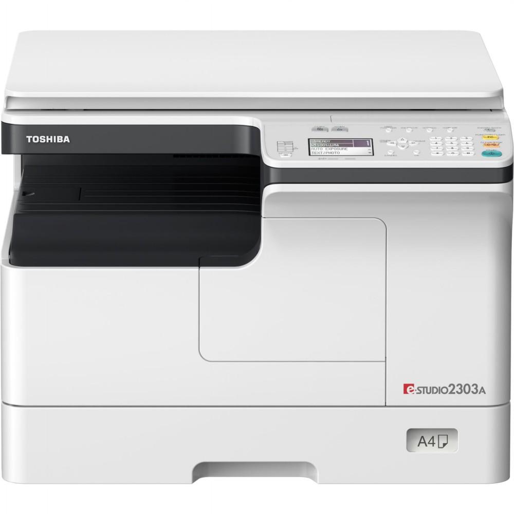 دستگاه کپی e-STUDIO 2303A توشیبا محصول شرکت نامآشنای «توشیبا» (Toshiba) است ، این شرکت همواره در زمینه چاپ و کپی یکی از بهترین گزینه های بازار محسوب میشود؛