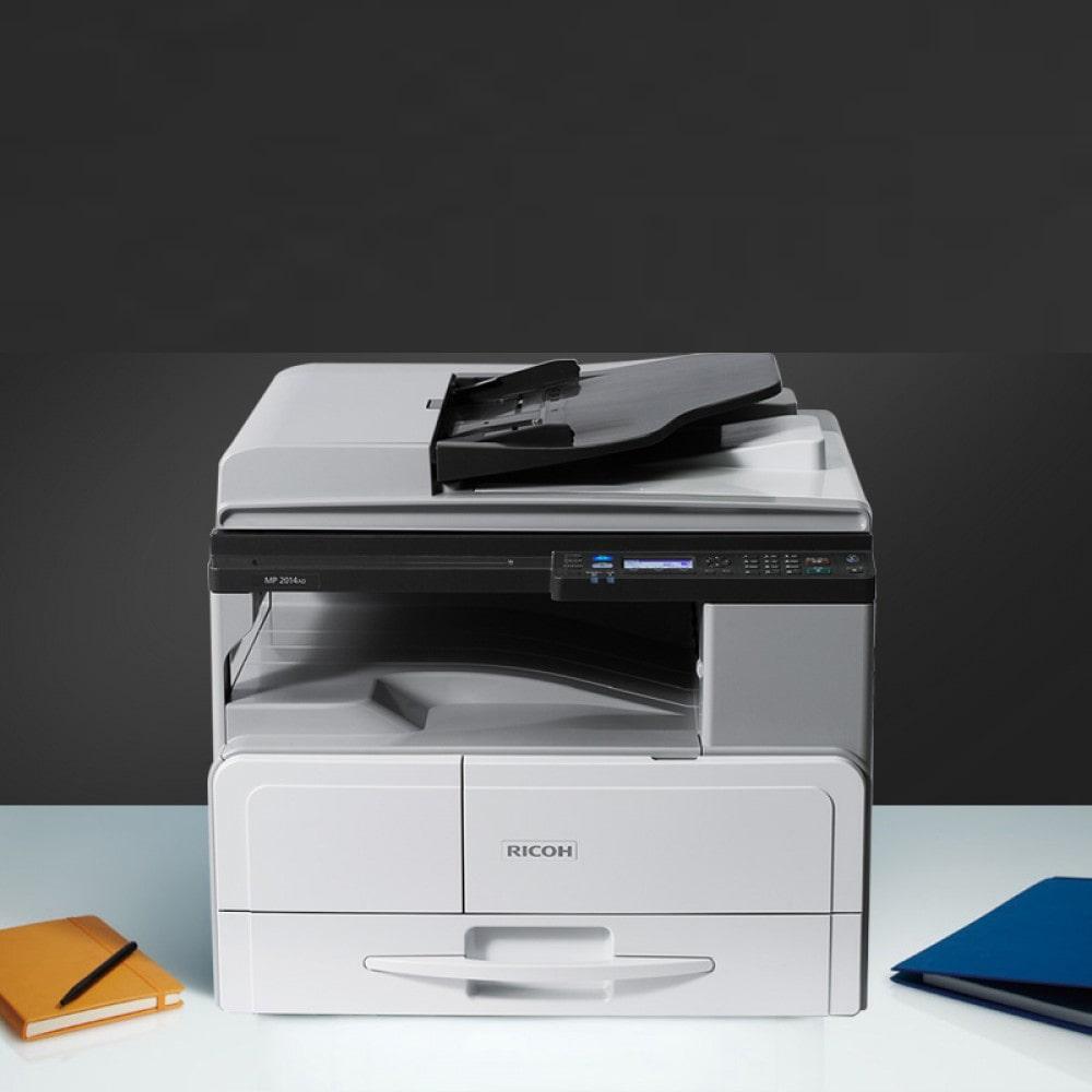 دستگاه کپی MP2014AD از امکانات بسیاری برخوردار است که باعث راحتی کار با دستگاه می شود
