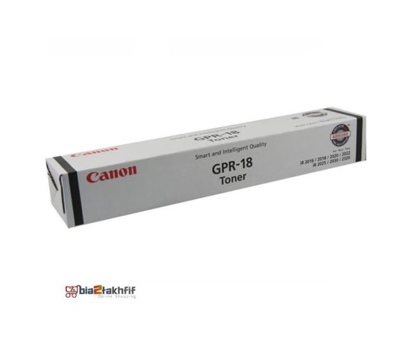 """کارتریج تونر مشکی GPR-18 کانن از تونرهای لیزری شرکت """" CANON """" میباشد. هر کارتریج دارای قطعات ، درام کارتریج ،چیپست کارتریج ، مگنت کارتریج و فوم کارتریج است ."""