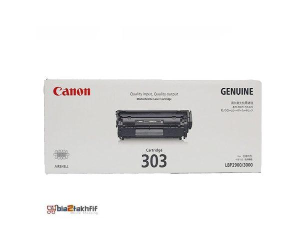 """کارتریج تونر مشکی 303 کانن از تونرهای لیزری شرکت """" CANON """" میباشد. هر کارتریج دارای قطعات ، درام کارتریج ،چیپست کارتریج ، مگنت کارتریج و فوم کارتریج است ."""