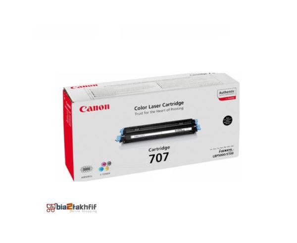 """کارتریج تونر مشکی 707 کانن از تونرهای لیزری شرکت """" CANON """" میباشد. هر کارتریج دارای قطعات ، درام کارتریج ،چیپست کارتریج ، مگنت کارتریج و فوم کارتریج است ."""