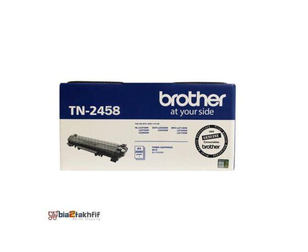 """کارتریج تونر مشکی TN-2458 برادر از تونرهای لیزری شرکت """" Brother """" میباشد. هر کارتریج دارای قطعات ، درام کارتریج ،چیپست کارتریج ، مگنت و فوم کارتریج است ."""