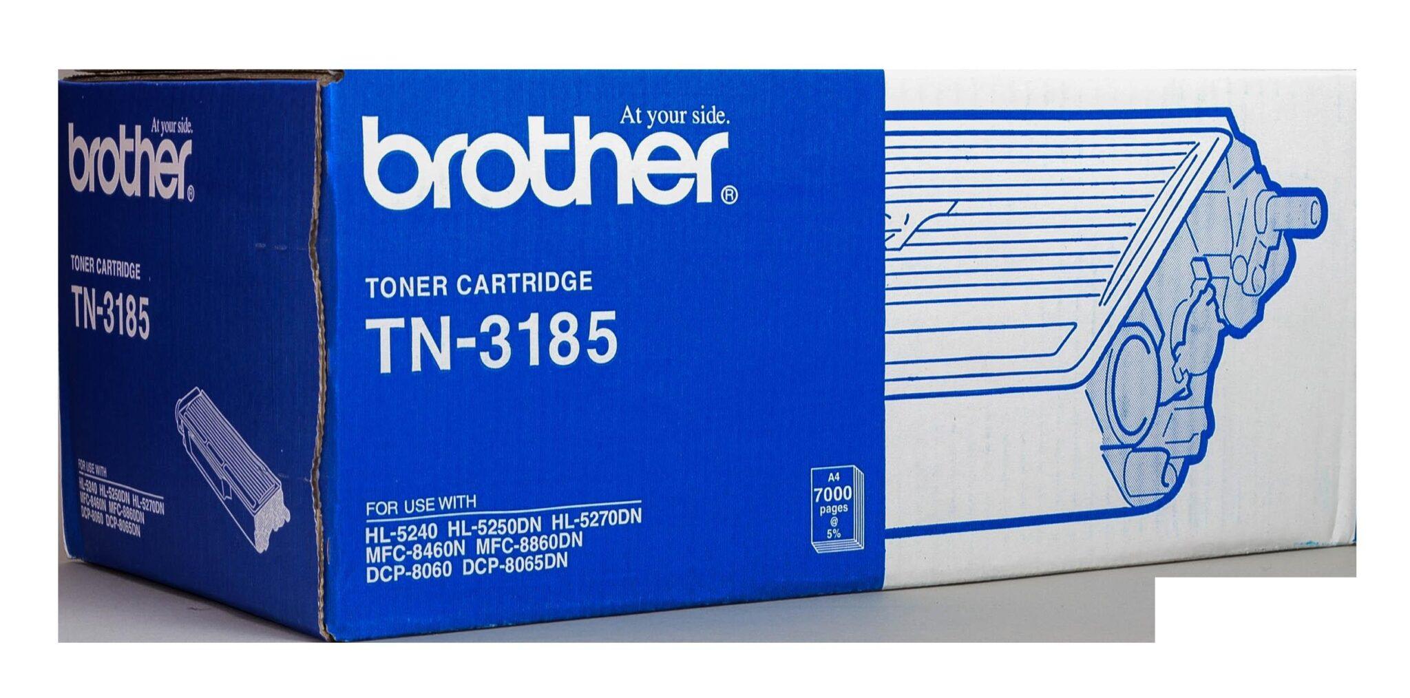 """کارتریج تونر مشکی TN-3185 برادر از تونرهای لیزری شرکت """" Brother """" میباشد. هر کارتریج دارای قطعات ، درام کارتریج ،چیپست کارتریج ، مگنت و فوم کارتریج است ."""