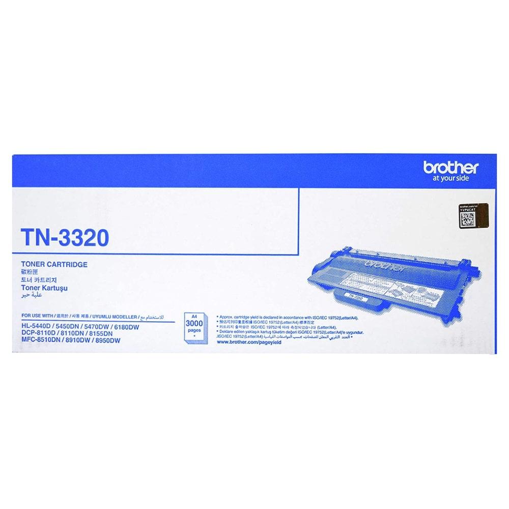"""کارتریج تونر مشکی TN-3320 برادر از تونرهای لیزری شرکت """" Brother """" میباشد. هر کارتریج دارای قطعات ، درام کارتریج ،چیپست کارتریج ، مگنت و فوم کارتریج است ."""