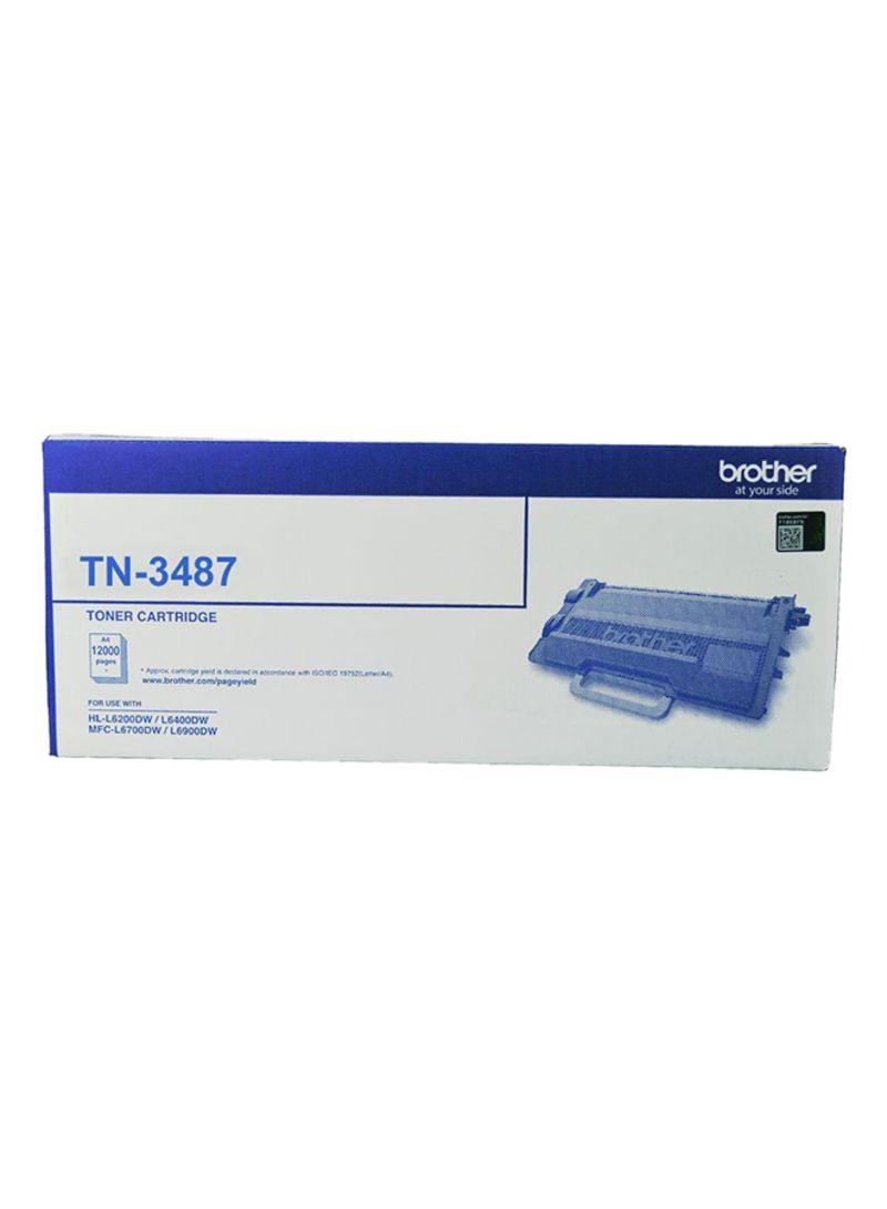 """کارتریج تونر مشکی TN-3487 برادر از تونرهای لیزری شرکت """" Brother """" میباشد. هر کارتریج دارای قطعات ، درام کارتریج ،چیپست کارتریج ، مگنت و فوم کارتریج است ."""