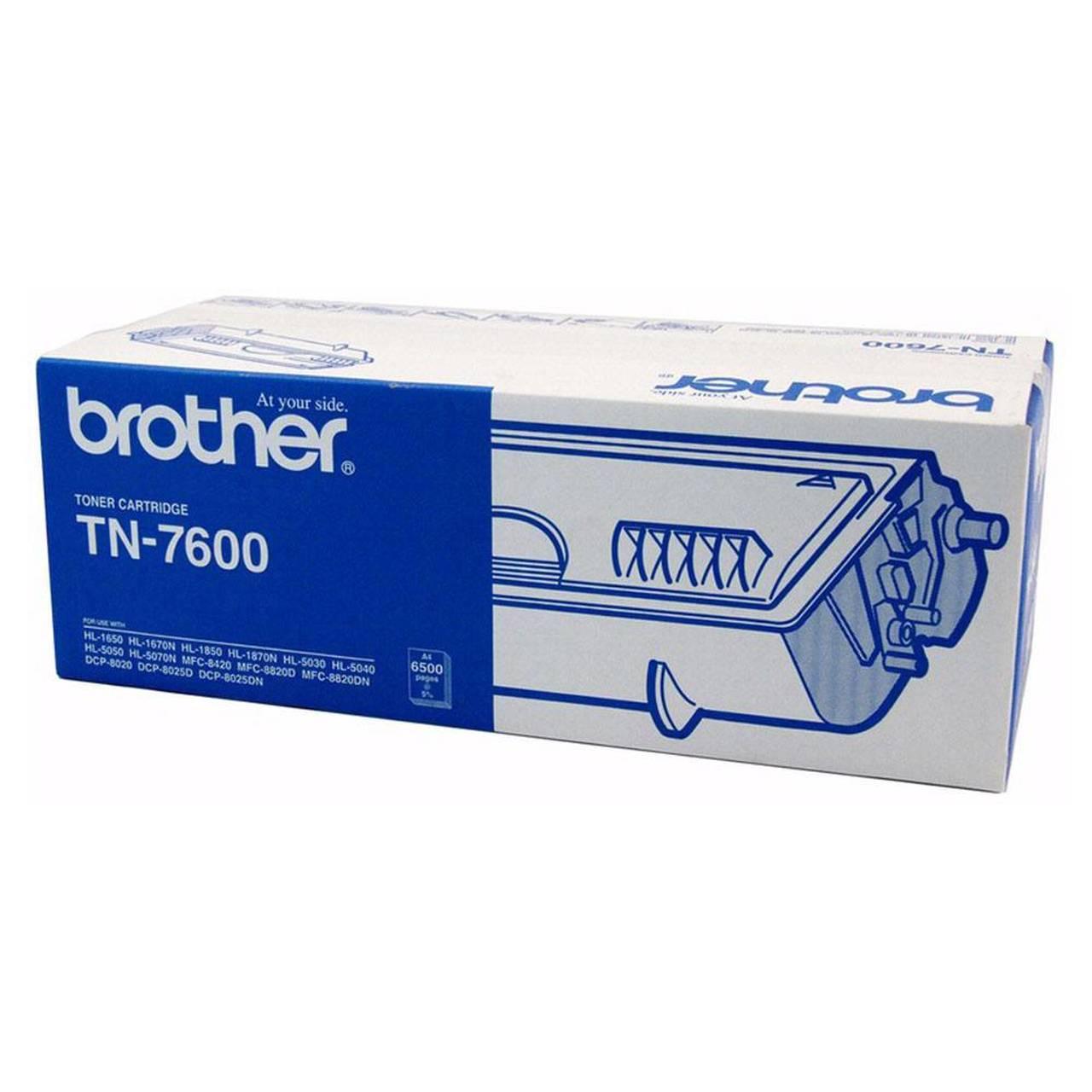 """کارتریج تونر مشکی TN-7600 برادر از تونرهای لیزری شرکت """" Brother """" میباشد. هر کارتریج دارای قطعات ، درام کارتریج ،چیپست کارتریج ، مگنت و فوم کارتریج است ."""