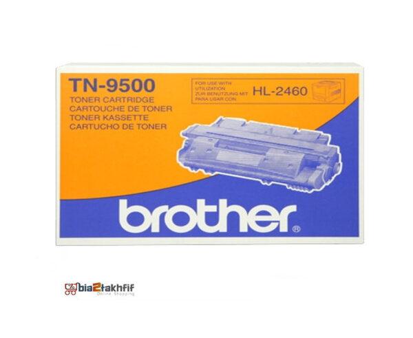 """کارتریج تونر مشکی TN-9500 برادر از تونرهای لیزری شرکت """" Brother """" میباشد. هر کارتریج دارای قطعات ، درام کارتریج ،چیپست کارتریج ، مگنت و فوم کارتریج است ."""