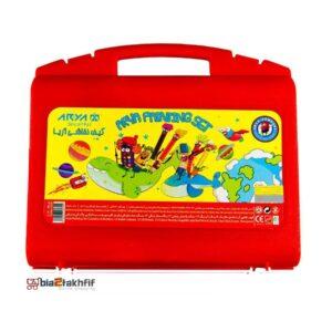 ست نقاشی 48 تکه آریا مدل Briefcase قرمز