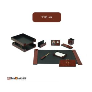 ست رومیزی اداری مدیریتی کد 112 ،لوازم اداری رومیزی که در انواع گوناگون در سایت بیاتوتخفیف وجود دارد به شما کمک می کند تا میز کاری زیبایی داشته باشید.