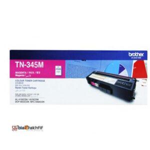 """کارتریج تونر TN-345M برادر از تونرهای لیزری شرکت """" Brother """" میباشد. هر کارتریج دارای قطعات ، درام کارتریج ،چیپست کارتریج ، مگنت و فوم کارتریج است ."""