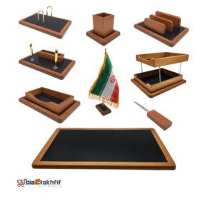 ست رومیزی مدیریتی مدل AB ،لوازم اداری رومیزی که در انواع گوناگون و طراح ها ی متنوع در سایت بیاتوتخفیف وجود دارد به شما کمک می کند تا میز کاری زیبایی داشته باشید.