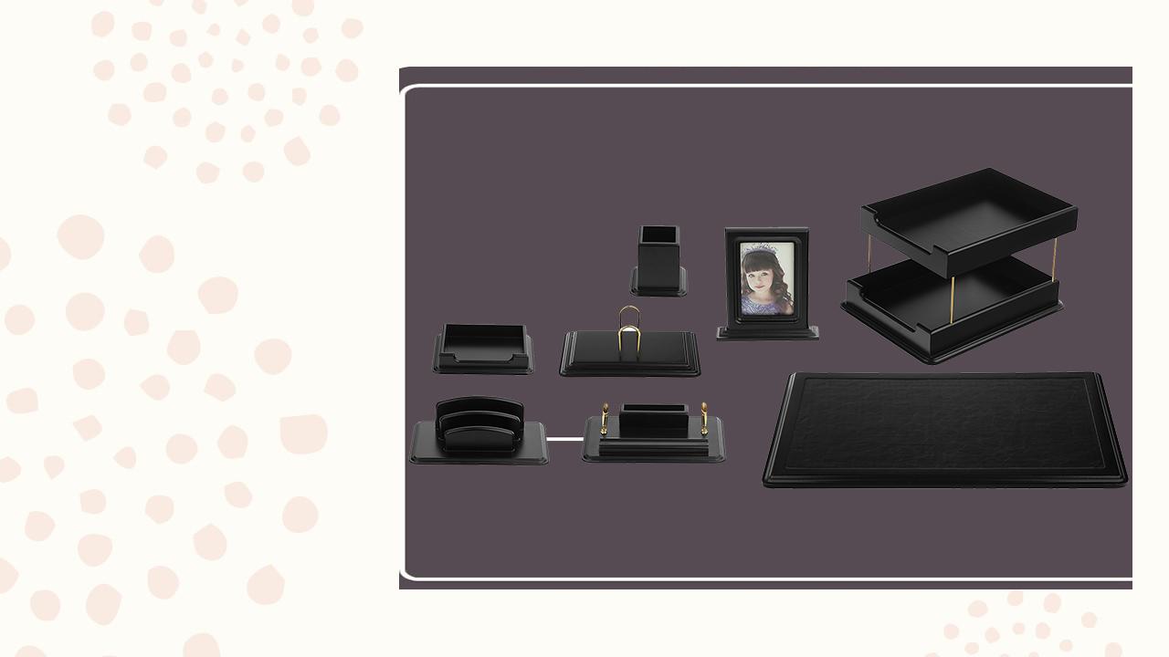 ست رومیزی مدیریتی آریا کدAR_505 ،لوازم اداری رومیزی در سایت بیاتوتخفیف وجود دارد به شما کمک می کند تا میز کاری زیبایی داشته باشید.