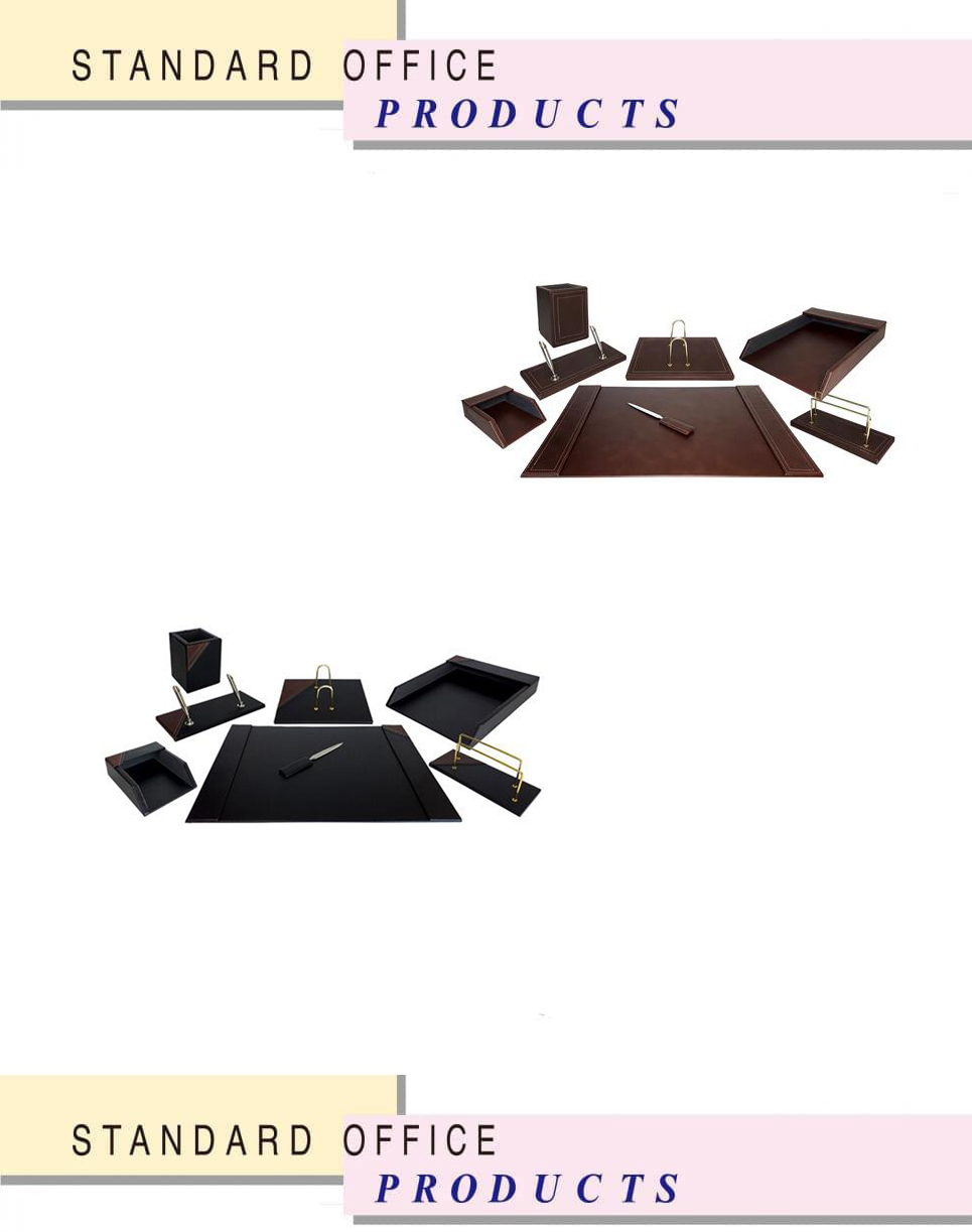 ست رومیزی چرمی 8تکه کد903 ،لوازم اداری رومیزی که در انواع گوناگون و طراح ها ی متنوع در سایت بیاتوتخفیف وجود دارد به شما کمک می کند تا میز کاری زیبایی داشته باشید.