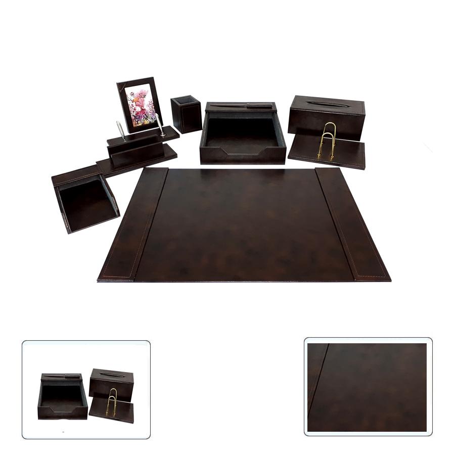ست رومیزی چرمی10تکه مدیریتی کد909 ،لوازم اداری رومیزی که در  سایت بیاتوتخفیف وجود دارد به شما کمک می کند تا میز کاری زیبایی داشته باشید.